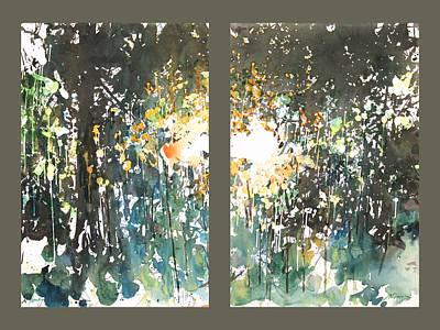 Painting - Diptych No.11 by Sumiyo Toribe