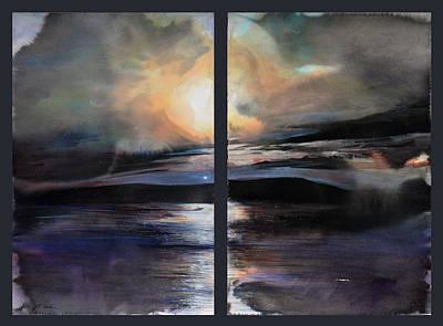 Painting - Diptych No.2 by Sumiyo Toribe
