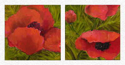 Painting - Diptych Sample by Rita Bentley