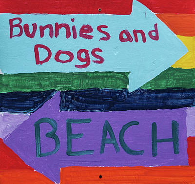 Photograph - Directions For Bunnies And Dogs And The Beach by Thom Zehrfeld