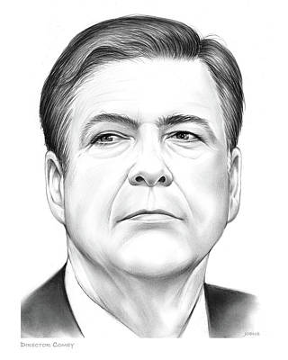 Drawing - Director Comey by Greg Joens