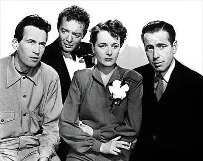 Maltese Falcon Photograph - Director John Huston Peter Lorre Mary Astor Humphrey Bogart The Maltese Falcon 1941-2016 by David Lee Guss