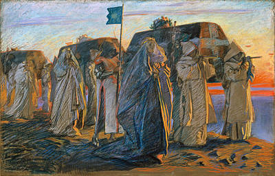 Austin Drawing - Dirge Of The Three Queens by Edwin Austin Abbey