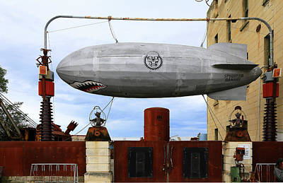 Photograph - Dirigible At Steam Punk Hq by Nareeta Martin