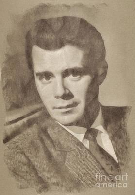 Dirk Drawing - Dirk Bogarde, Vintage Actor By John Springfield by John Springfield