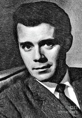 Dirk Drawing - Dirk Bogarde, Vintage Actor By Js by John Springfield