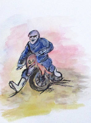 Painting - Dirt Bike Racer by Clyde J Kell