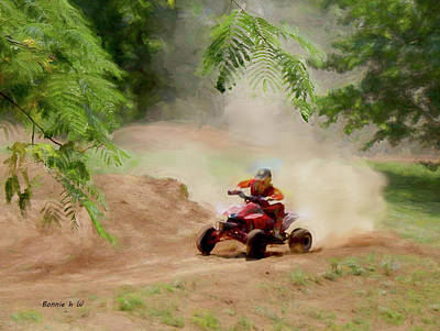 Photograph - Dirt Bikeing by Bonnie Willis
