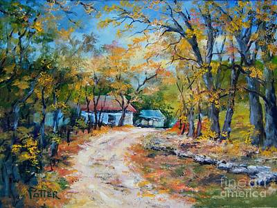 Painting - Country Lane by Virginia Potter