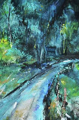 Painting - Dirt Road In Blue by Michele Carter
