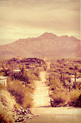 Photograph - Dirt Road In Desert Town by Jill Battaglia