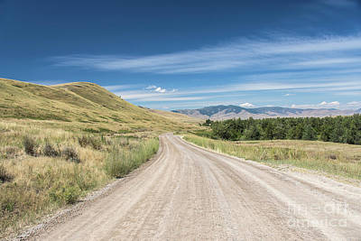 Photograph - Dirt Road Through Mountains by Jason Kolenda