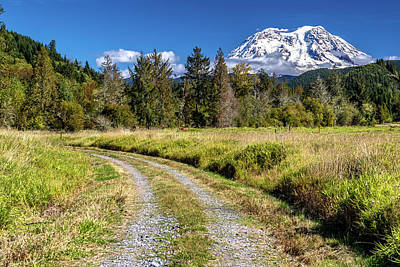 Photograph - Dirt Road To Mt Rainier by Rob Green