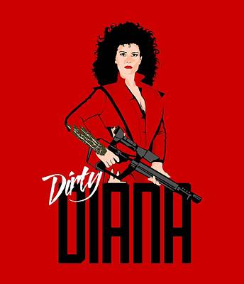 Dirty Diana Art Print by Mos Graphix