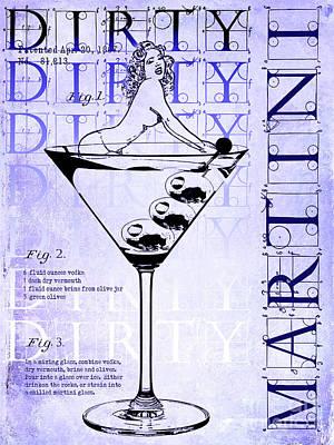 Martini Photograph - Dirty Dirty Martini Patent Blueprint by Jon Neidert