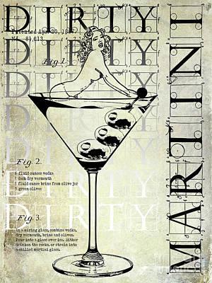 Martini Photograph - Dirty Dirty Martini Patent by Jon Neidert