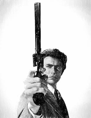 Lucky Mixed Media - Dirty Harry Charcoal by Dan Sproul
