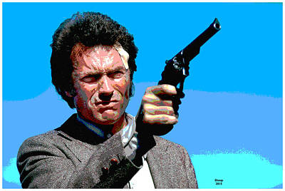 Dirty Harry  Art Print by Charles Shoup