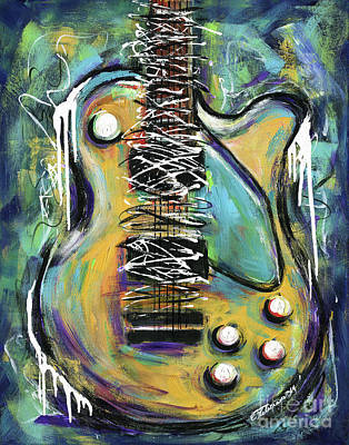 Painting - Dirty Notes Guitar by Elena Feliciano
