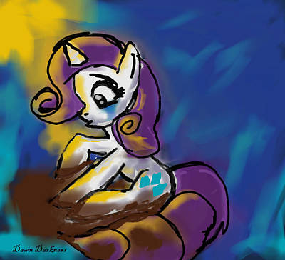 My Little Pony Drawing - Dirty Rarity by Dawn Darkness