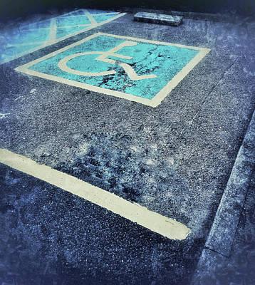 Asphalt Photograph - Disabled Parking Space by Tom Gowanlock
