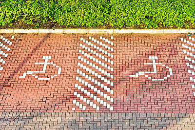 Disabled Parking Print by Tom Gowanlock