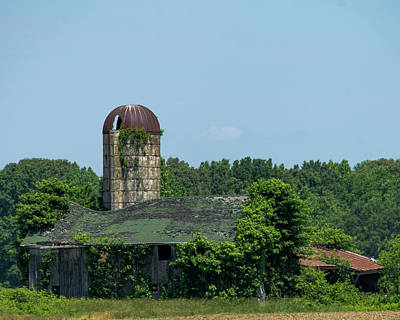 Photograph - Disappearing Barn And Silo by SG Atkinson