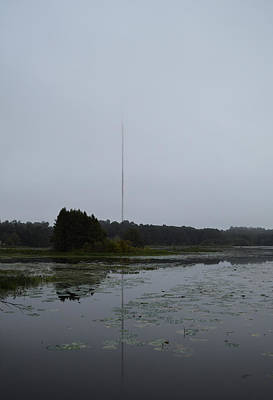 Photograph - Disappearing Radio Tower - Allligator Lake by rd Erickson