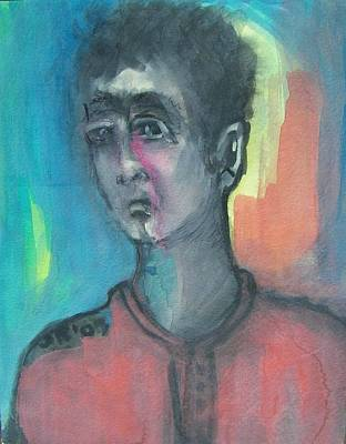 Disappointed Painting - Disappointed Football Fan by Judith Redman