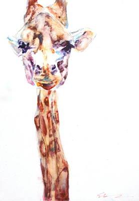 Disappointed Giraffe Art Print