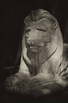 Disapproving Stone Lion Art Print