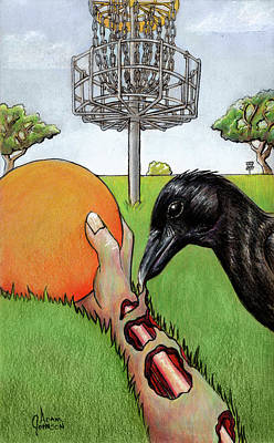 Painting - Disc Golf Nightmare by Adam Johnson