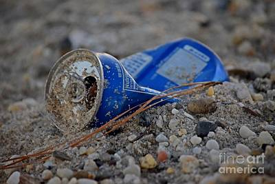 Pepsi Can Photograph - Discarded Pepsi Can by Ben Schumin
