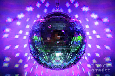 Disco Ball Purple Art Print