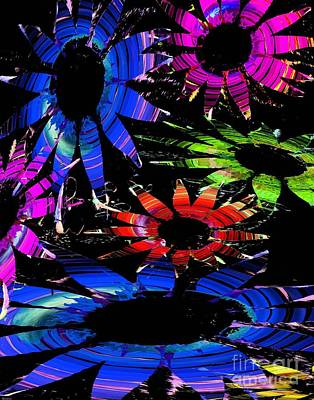 Digital Art - Disco Garden by Lizi Beard-Ward