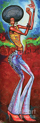 Disco Painting - Disco Queen by The Art of DionJa'Y