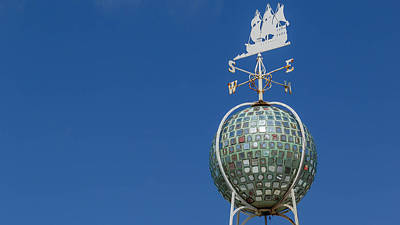 Weathervane Photograph - Disco Ship by Melanie Collie