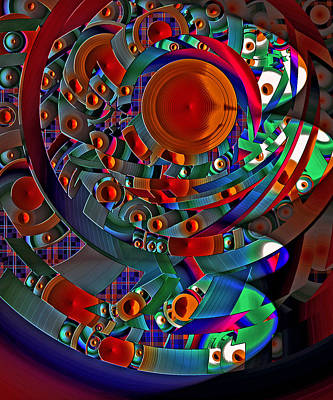 Digital Art - Discopolis 10 by Lynda Lehmann