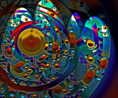 Digital Art - Discopolis by Lynda Lehmann