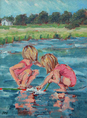 Cape Cod Painting - Discoveries by Barbara Hageman