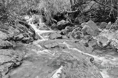 Photograph - Discovering Queda Do Vigario Waterfall In Monochrome by Angelo DeVal