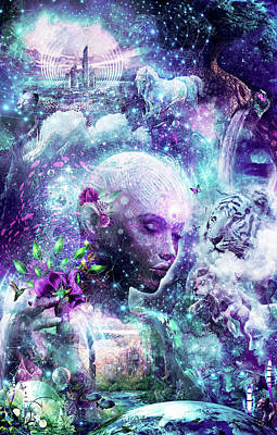 Discovering The Cosmic Consciousness Art Print by Cameron Gray