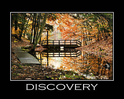 Discovery Inspirational Motivational Poster Art Art Print by Christina Rollo