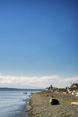Puget Sound Photograph - Discovery Park Lighthouse by Tanya Harrison