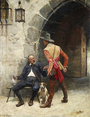 Painting - Discussion by Rudolf Otto von Ottenfeld