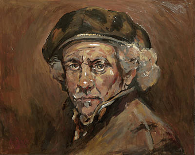 Painting - Disguised As Rembrandt Van Rijn by Nop Briex