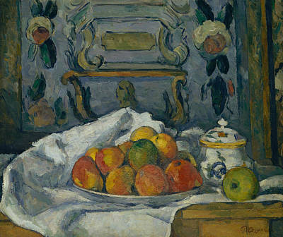 Painting - Dish Of Apples by Paul Cezanne