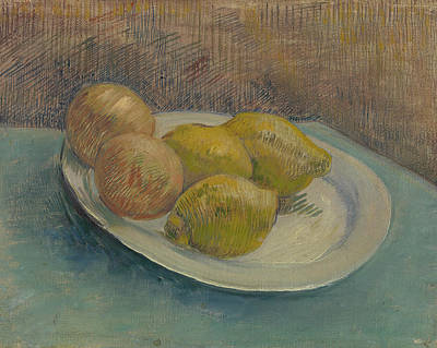 Blueberries Painting - Dish With Citrus Fruit by Vincent van Gogh
