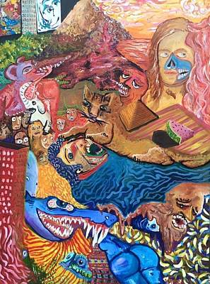 Disintegrate Painting - Disintegratism by Israel Fickett