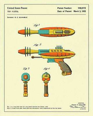 Gun Wall Art - Digital Art - Disintegrator Pistol 1953 by Jazzberry Blue